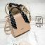 กระเป๋าสะพายกระเป๋าถือ แฟชั่นนำเข้าทรงสี่เหลี่ยมสไตล์เกาหลี AX-12394-PNK [สีชมพู] thumbnail 2