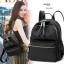 กระเป๋าเป้ผู้หญิงผ้าไนล่อนหนา ดีไซน์น่ารัก BAG-076-ดำ (สีดำ) thumbnail 2
