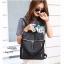 กระเป๋าเป้ผู้หญิงสะพายแบบน่ารัก สะพายได้หลายแบบ BAG-077-ดำ (สีดำ) thumbnail 4