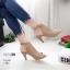 รองเท้าส้นสูงหน้าเต็มสีครีม งานสไตล์ปราด้า รัดข้อ LB-1202-ครีม thumbnail 2
