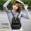 กระเป๋าเป้ผู้หญิงผ้าไนล่อนหนา ดีไซน์น่ารัก BAG-076-ดำ (สีดำ) thumbnail 3
