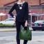 กระเป๋าสะพายผู้หญิงหนังอยู่ทรง มีแบบหนังเงาและหนังด้าน DM302-เขียว (สีเขียว) thumbnail 2