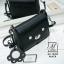 กระเป๋าสะพายกระเป๋าถือ แฟชั่นนำเข้าสไตล์เกาหลีสุดน่ารัก AX-12399-BLK (สีดำ) thumbnail 4