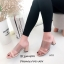 รองเท้าส้นสูงแบบสวม พลาสติกหน้าใส HT11-ครีม (สีครีม) thumbnail 2