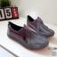 รองเท้าผ้าใบเกาหลีสีเทา soft&comfort แต่งซิป พื้นถอดได้(ผ้าใบยืด) 8262-เทา thumbnail 2