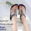 รองเท้าแตะรัดส้นสีกรม พื้นนิ่ม B2626-8-กรม thumbnail 1