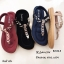 รองเท้าแตะรัดส้นสีแดง พื้นนิ่ม B2626-8-แดง thumbnail 5