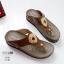 รองเท้าสุขภาพสีกากี พื้นนุ่ม LB-10182-กากี thumbnail 2