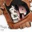 กระเป๋าเป้ผู้หญิงหนังPU สะพายได้หลายแบบ BAG-049-น้ำตาล (สีน้ำตาล) thumbnail 5
