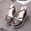 รองเท้ารัดข้อเปิดท้ายส้นเตารีดสีดำ LB-ST011-BLK thumbnail 4