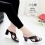 รองเท้าส้นสูงสีดำ Maxi 939-69-ดำ thumbnail 1