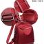 กระเป๋าเป้ผู้หญิงผ้าไนล่อนอย่างดี กันน้ำได้ BAG-052-แดง (สีแดง) thumbnail 4