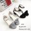 รองเท้าส้นเหลี่ยมรัดข้อ A-222-ดำ (สีดำ) thumbnail 5