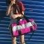 กระเป๋าแฟชั่นนำเข้า ด้านหน้าสกรีน PINK BAI-276-PNK (สีชมพู) thumbnail 2