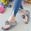 รองเท้าแตะพื้นสุขภาพสีเทา งานเย็บหน้ากุหลาบ 992-30-GREY thumbnail 2