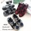 รองเท้าผ้าใบวัสดุผ้ายืดสังเคราะห์สีกรม แต่งสายคาดดีไซน์แบบไขว้ MS238-กรม thumbnail 2