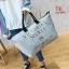 กระเป๋าแฟชั่นนำเข้า Style Victoria's secret BAI-201-SIL (สีเงิน)