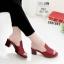 รองเท้าเตารีดสีแดง หน้าทรงปราด้าส้นแมกซี่ 957-92-แดง thumbnail 1