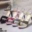 รองเท้าส้นสูงรัดข้อเปิดท้ายสีชมพู LB-ST208-PNK thumbnail 4