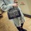 กระเป๋าแฟชั่นนำเข้าสะพายข้าง style CHANEL BOY OVL-0001L-BLK (สีดำ) thumbnail 1