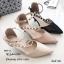 รองเท้าคัทชูสีครีม วัสดุหนังนิ่ม A869-23-ครีม thumbnail 4