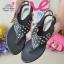รองเท้าแตะลำลองรัดส้นสีดำ 992-31-ดำ thumbnail 3