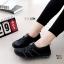 รองเท้าผ้าใบยางยืดสีดำ ผ้ายืดเงา เบาสบาย 8271-ดำ thumbnail 2