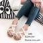 รองเท้าแตะลำลองหนังนิ่มแบบสวมโป้ง พื้นกระสอบ A608-ครีม (สีครีม) thumbnail 2