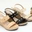 พร้อมส่ง รองเท้าส้นเตารีดรัดท้าย 13-61-CRM [สีครีม] thumbnail 2