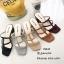 รองเท้าส้นสูงวัสดุหนังนิ่มสีดำ ดีไซน์งานเส้น 998-02-ดำ thumbnail 2