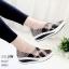 รองเท้าผ้าใบยางยืดสีน้ำตาล 99055-น้ำตาล thumbnail 1
