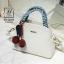 กระเป๋าสะพายกระเป๋าถือ แฟชั่นนำเข้าแบรนด์ axixi ดีไซน์เก๋ส์ AX-12477-CRM (สีครีม)