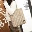 กระเป๋าแฟชั่นนำเข้าวัสดุผ้าทอลาย B9018-CRM (สีครีม) thumbnail 3