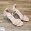 พร้อมส่ง รองเท้าส้นเข็มรัดข้อ K5906-PNK [สีชมพู] thumbnail 2