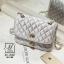 กระเป๋าสะพายกระเป๋าถือ แฟชั่นนำเข้าสไตล์เกาหลี AX-12401-SIL [สีเงิน] thumbnail 3