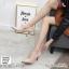 พร้อมส่ง รองเท้าคัชชูผู้หญิง หนังลายวัว K9080-PNK [สีชมพู] thumbnail 3