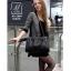 กระเป๋าสะพายกระเป๋าถือ แฟชั่นนำเข้าแพทเทิร์นแบบสานแบรนด์ axixi แท้ AX-L044-BLK (สีดำ) thumbnail 5