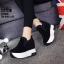 รองเท้าผ้าใบสีดำ ST1618-BLK thumbnail 2