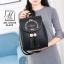 กระเป๋าสะพายเป้กระเป๋าถือ เป้แฟชั่นนำเข้าดีไซน์สุดน่ารัก AXI-A12315-BLK (สีดำ) thumbnail 5