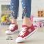 รองเท้าผ้าใบเสริมส้นสุดชิคสีแดง 9107-RED thumbnail 2
