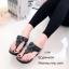 รองเท้าแตะลำลองวัสดุหนังนิ่มแบบคีบ L2768-ดำ (สีดำ) thumbnail 3