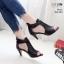 รองเท้าส้นสูงสีดำ ซิปหลัง LB-350-209-ดำ thumbnail 2