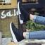 รองเท้าผ้าใบสีดำ ST013-BLK thumbnail 2