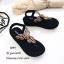 รองเท้าลำลองแบบคีบสีดำ วัสดุหนังนิ่ม SP001-ดำ thumbnail 1