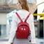 กระเป๋าเป้ผู้หญิงหนัง pu เย็บลายข้ามหลามตัดด้านหน้า BAG-074-แดง (สีแดง) thumbnail 3