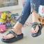 รองเท้าแตะพื้นโซฟางานห่อส้นสีดำ 999-13-ดำ thumbnail 3