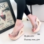 รองเท้าแตะส้นสูงแบบสวม พื้นลาย T480-ขาว (สีขาว) thumbnail 3