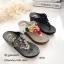 รองเท้าแตะลำลองวัสดุหนังนิ่มแบบคีบ L2768-ดำ (สีดำ) thumbnail 2
