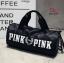 กระเป๋าแฟชั่นนำเข้า ด้านหน้าสกรีน PINK BAI-276-BLK (สีดำ)