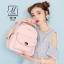 กระเป๋าสะพายเป้กระเป๋าถือ เป้แฟชั่นนำเข้าดีไซน์สุดน่ารัก B3128-PNK (สีชมพู) thumbnail 3